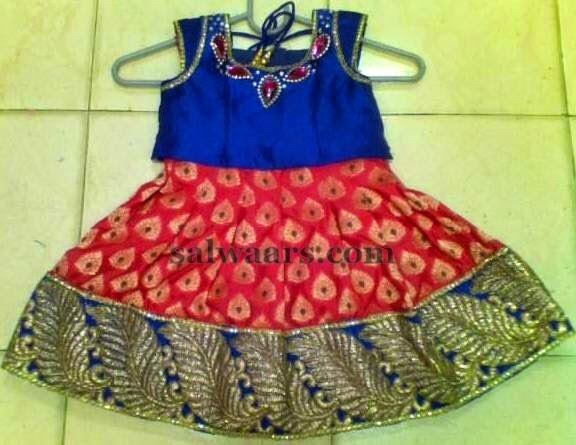Benaras Skirt for 2 Years Kid