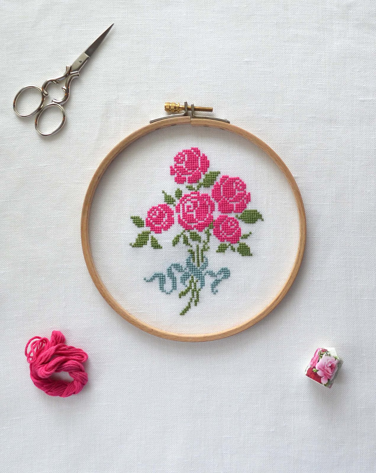 New Pattern ~ French Rose Bouquet