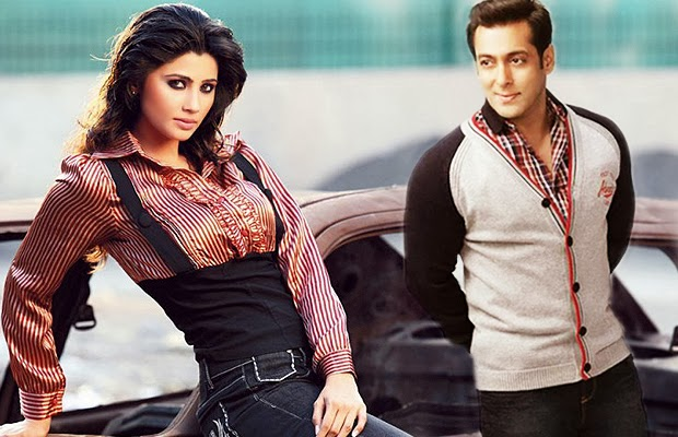 Daisy Shah and Salman Khan posing for photoshoot