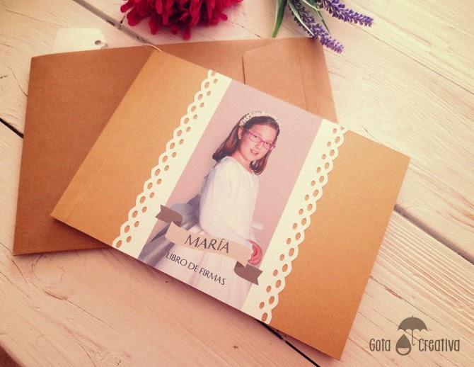 libro de firmas de comunión Gota Creativa