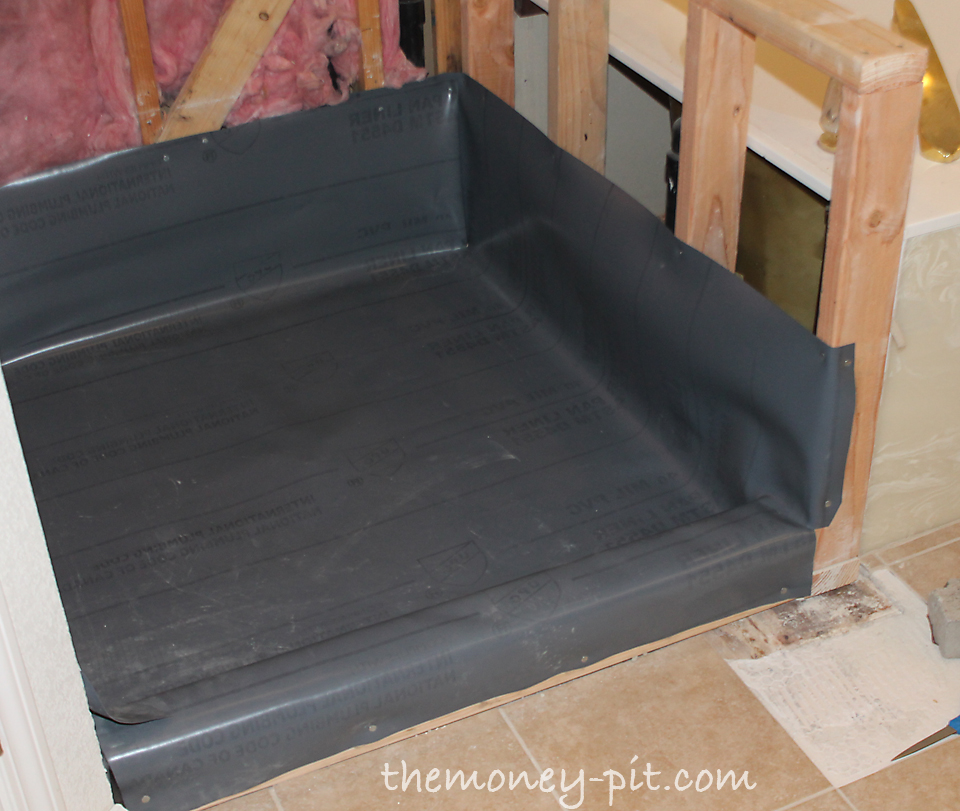 How much cost to install shower pan prioritymine for Tub liner installation