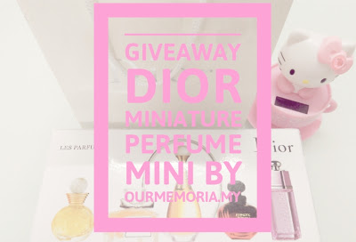 Giveaway Dior Miniature Perfume Mini