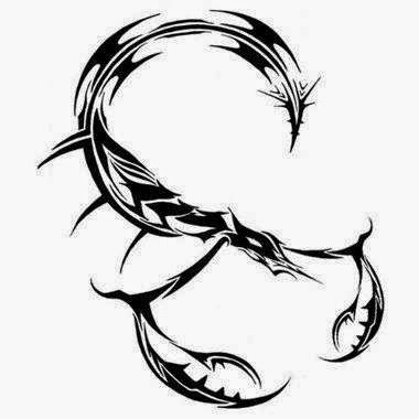 Diseño Tatuaje tribal signo Escorpion 13