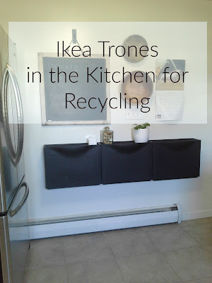 Ikea Trones in the kitchen for recycling, recycle