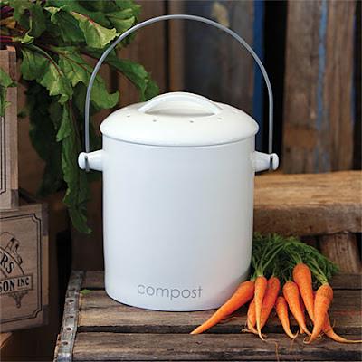 compost bin, white