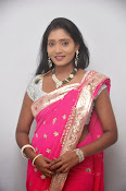 Actress Nisha Latest Photos in Pink saree-thumbnail-19