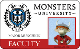 Monsters University Faculty ID Card