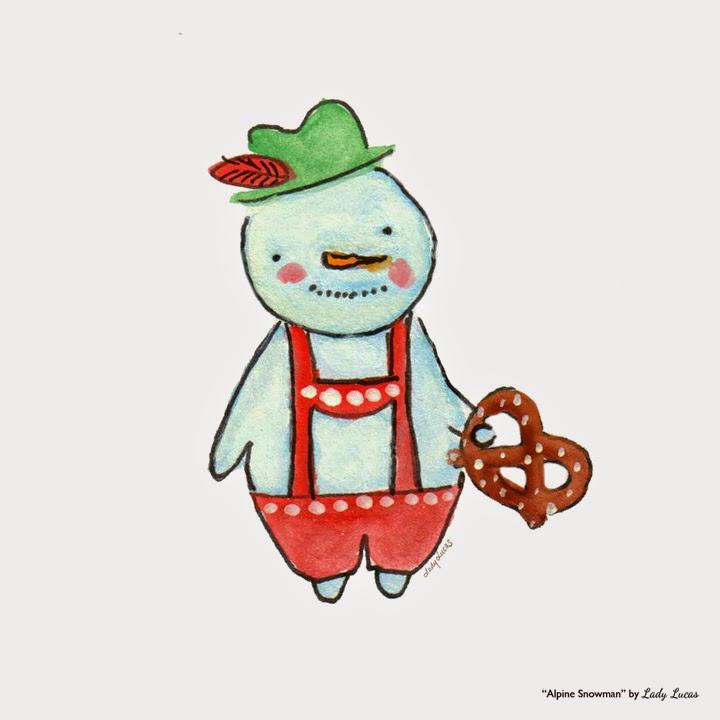 Alpine Snowman   by Lady Lucas #25DaysofSnowmen