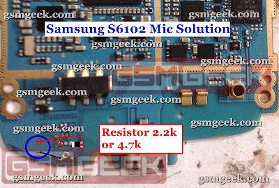 Samsung S6102 Mic Problem Solution