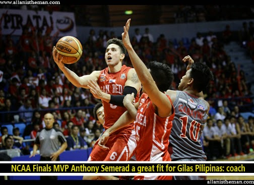 NCAA Finals MVP Anthony Semerad a great fit for Gilas Pilipinas: coach