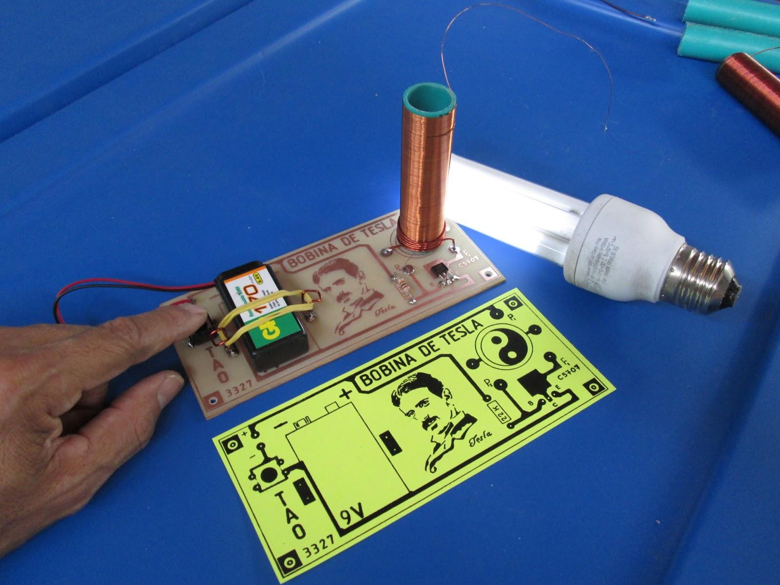 Circuito Bobina De Tesla : Impresos electrÓnicos tao bobina de tesla facil v tao