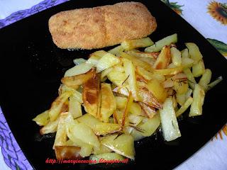 salmone croccante con patate al forno