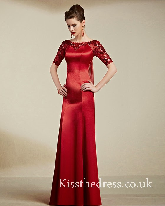 red mother prom dress