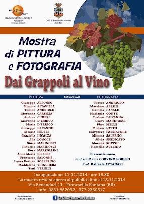 mostra di pittura e fotografia 'dai grappoli al vino'