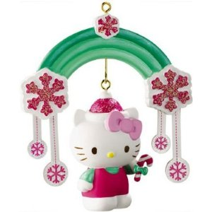 Hello Kitty Christmas rainbow hanging ornament Christmas tree decoration
