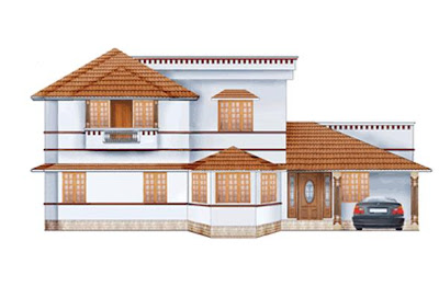 Ente veedu ente veedu new elevation 13275 for Veedu plans and elevations