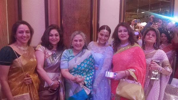 Celebs attended the Sonakshi Sinha's brother's wedding