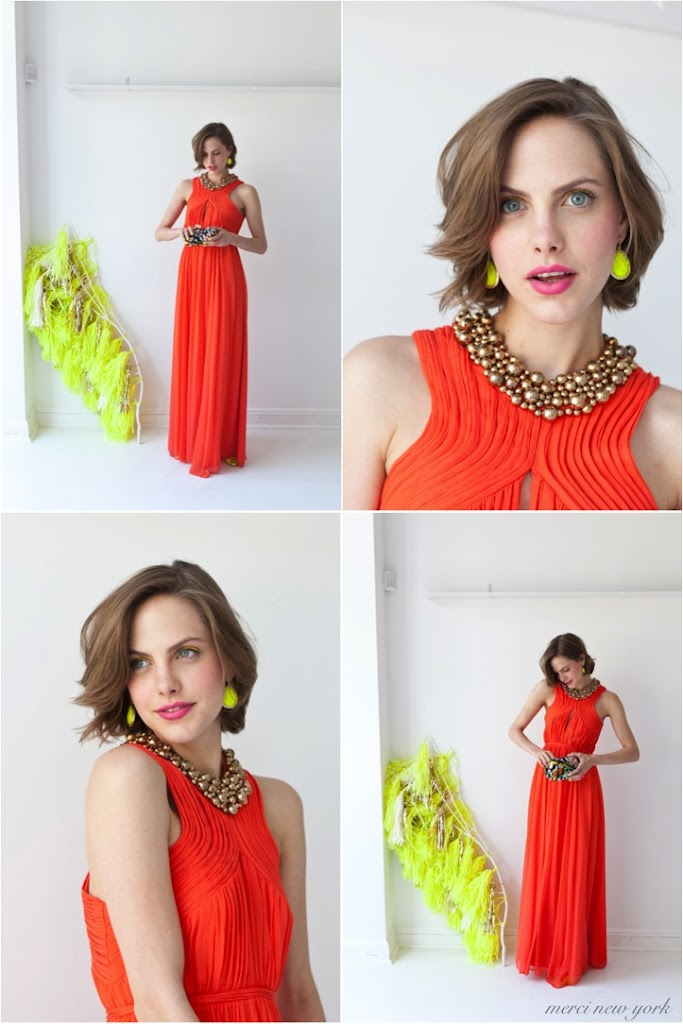 tangerine tango bridemaid dress