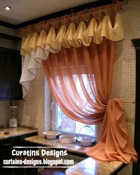 Unique curtain designs for kitchen windows kitchen for Unique window designs