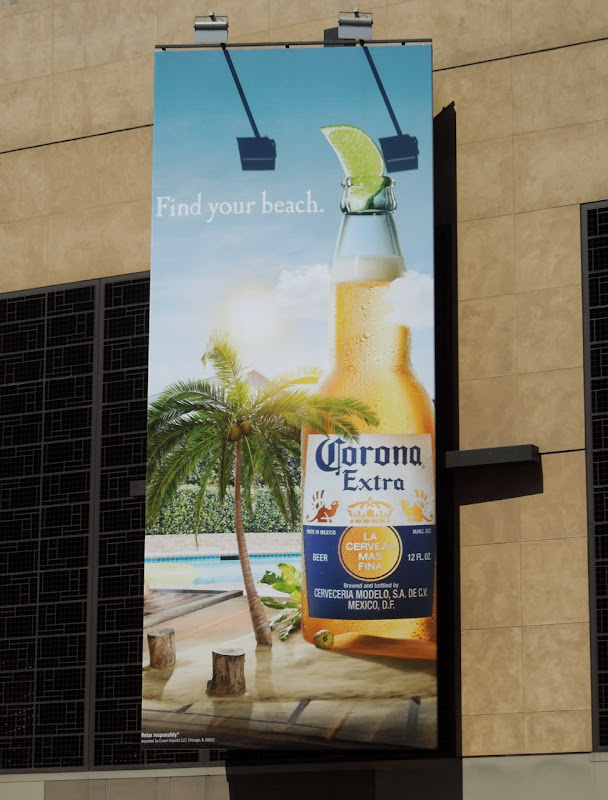 Corona Find your beach poolside billboard