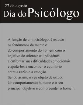 Dia do Psicólogo - Oração