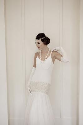 robe de mariée retro vintage dentelle romantique