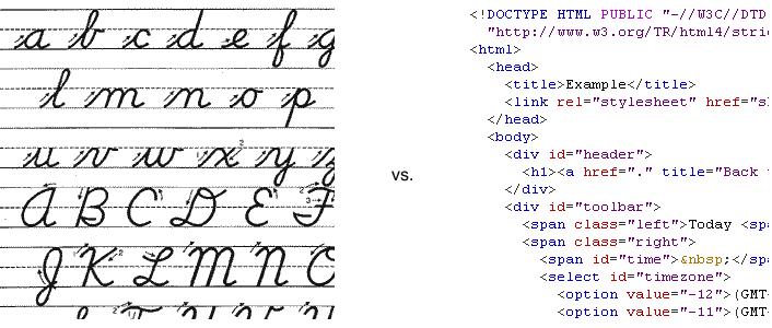 Cursive handwriting the new hieroglyphics lenore s