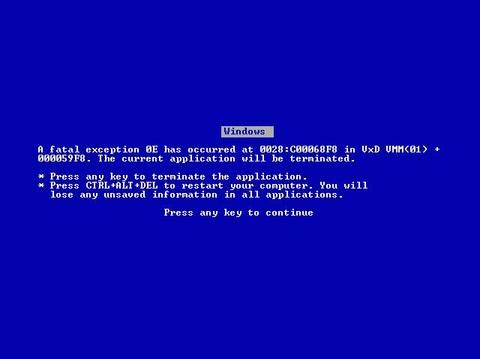 Mes années informatique. Fatal-error