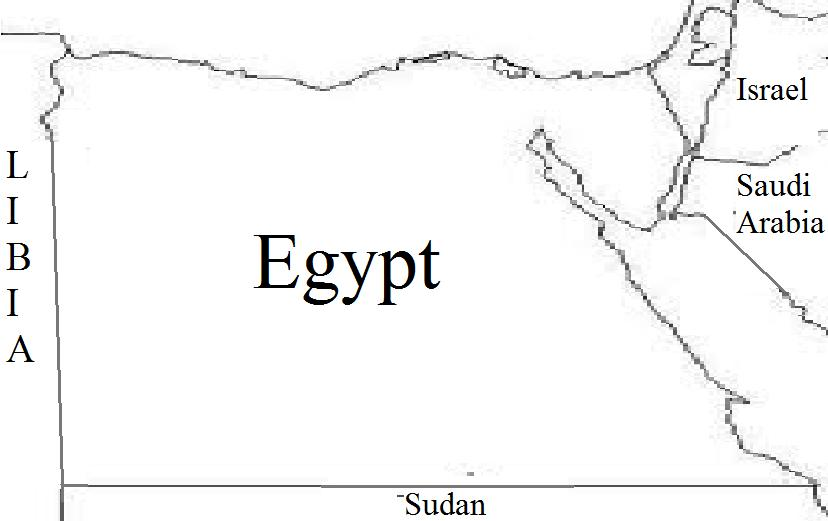 Nile River Valley Project Egypt On Political Map - Map of egypt blank