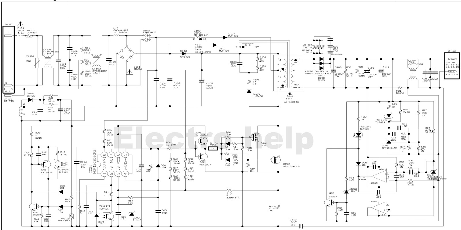 Hyundai Hql260wr Image Quest Lcd Tv Smps Circuit Diagram And Pwb