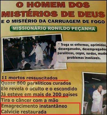 Pastor Ronildo Peçanha, longe, o maior trambiqueiro do Brasil