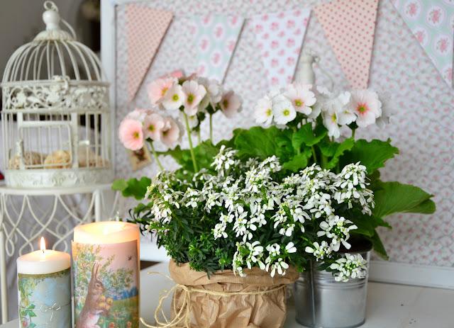 fiori, primavera, candele http://shabbychiclife-silvia.blogspot.it