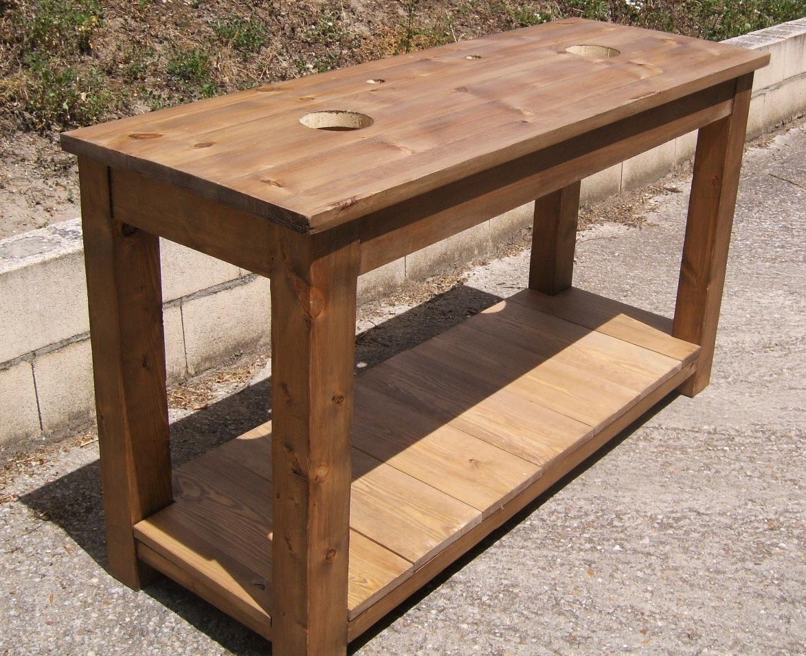 Mesa lavabo de madera dise o y estilo para el ba o for Mesa diseno