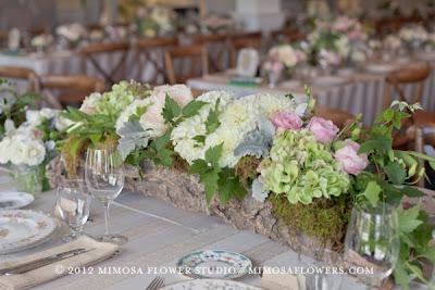 Kwiaty w drewnie letnia dekoracja stołu DIY Eco manufaktura
