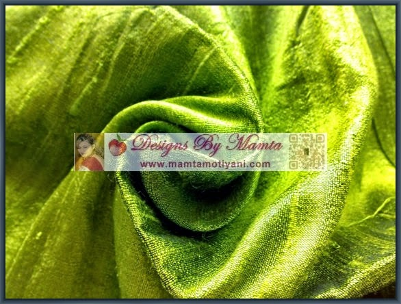 Green Indian Silk Fabric