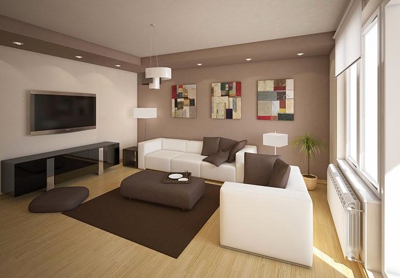 Ideje za uređenje sobe Dnevna soba u braon boji