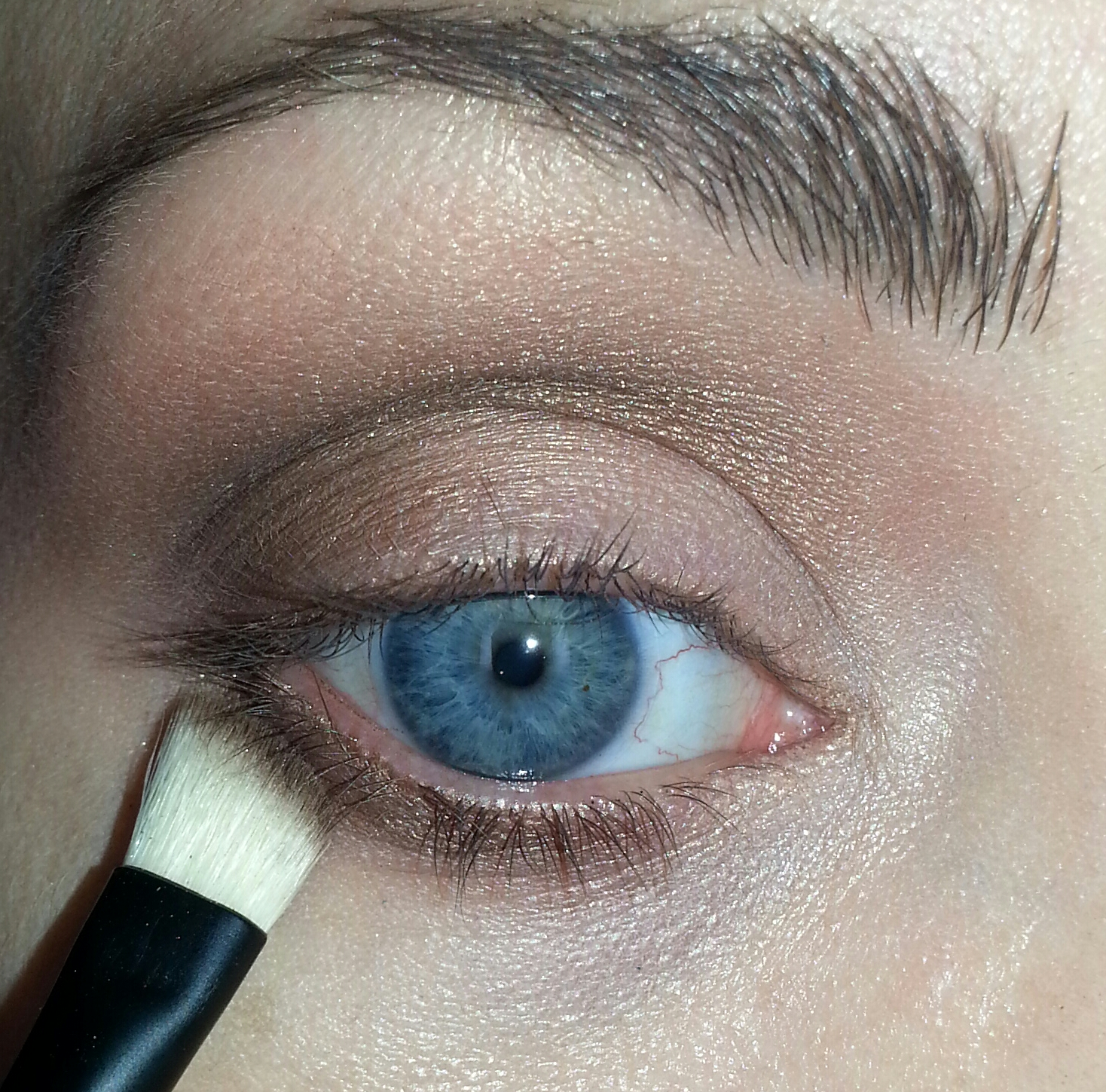 I Applied Twice Baked To The Lower Lash Line Using A Flat Angled Brush Then,