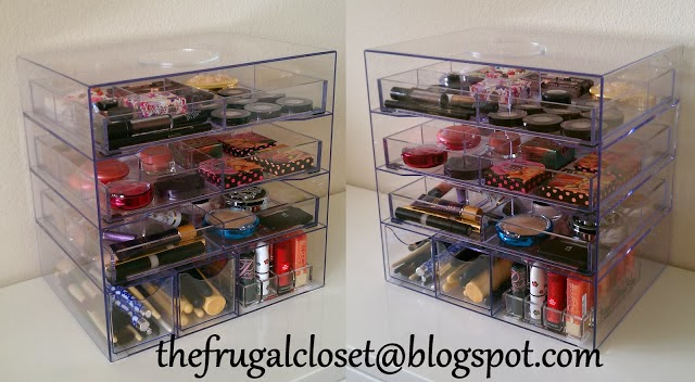 Clear organizer drawers for make up organizing :: OrganizingMadeFun.com