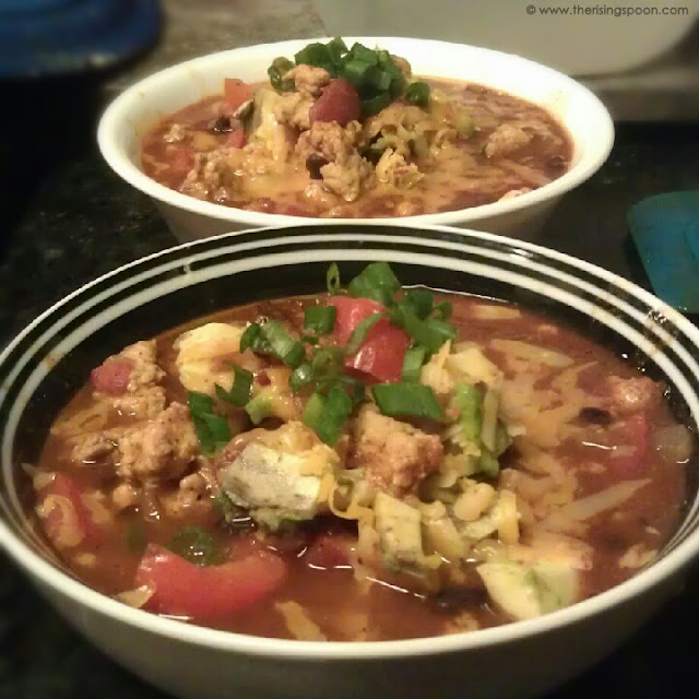 Spicy Turkey Chili Soup + How to Make Homemade Spicy Taco Seasoning ...