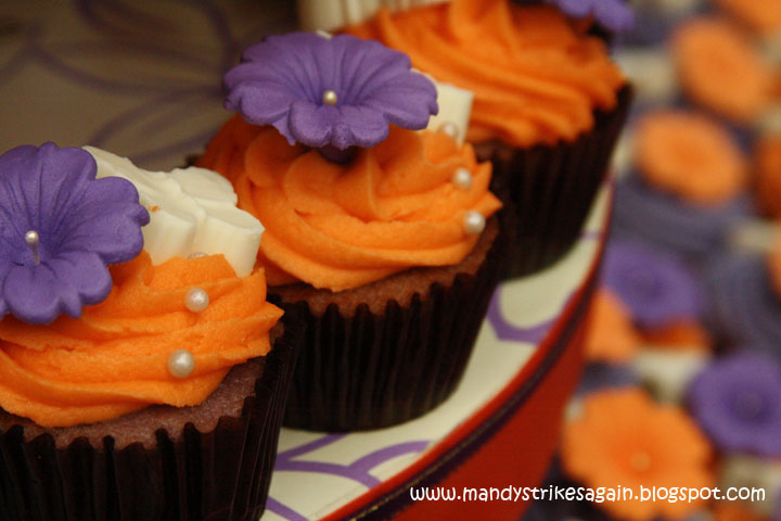 Purple And Orange Themed Wedding