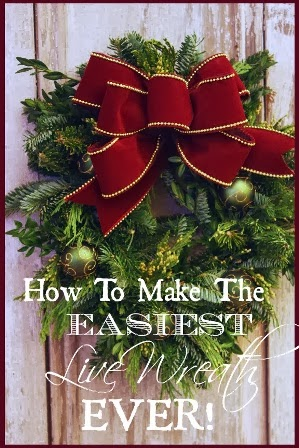 SO EASY CHRISTMAS WREATH!