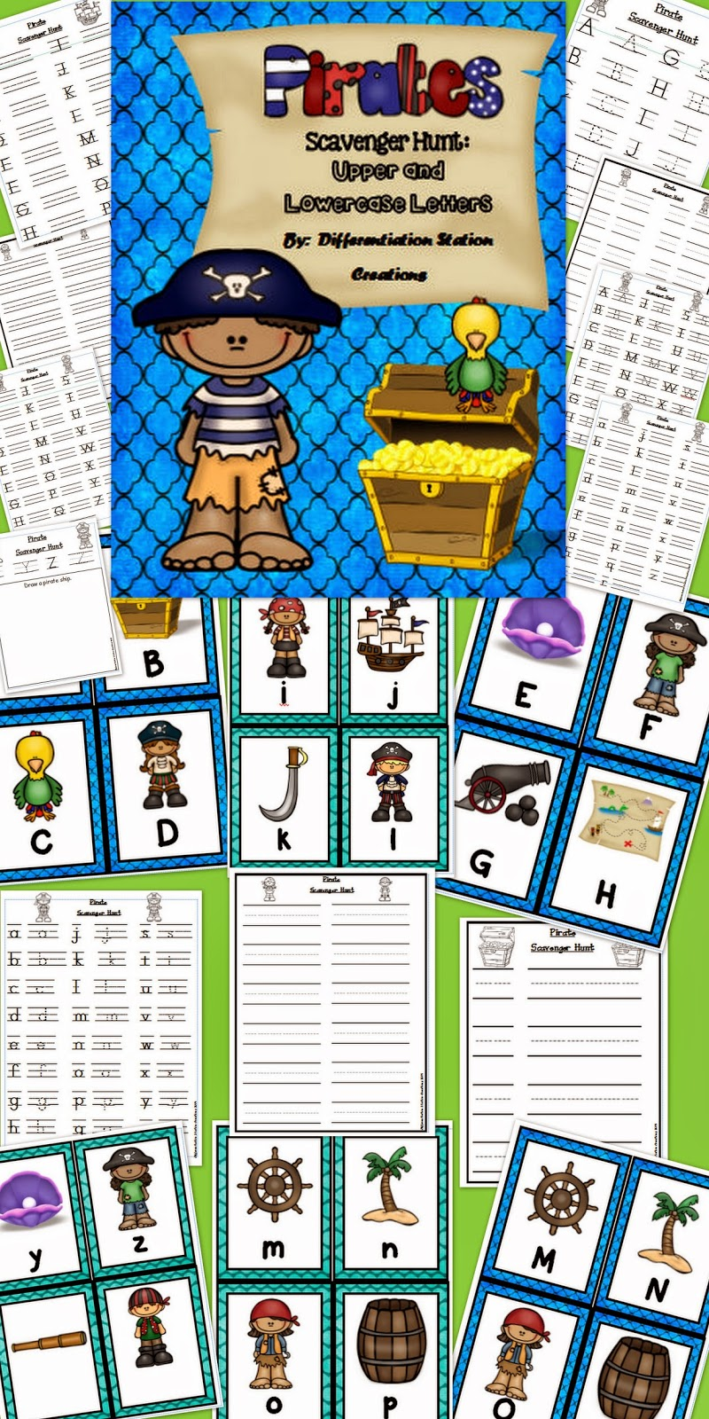 http://www.teacherspayteachers.com/Product/Pirate-Scavenger-Hunt-Uppercase-and-Lowercase-Letters-Printables-1293755