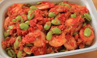 Resep Masakan Sambal Udang Goreng Petai Segar