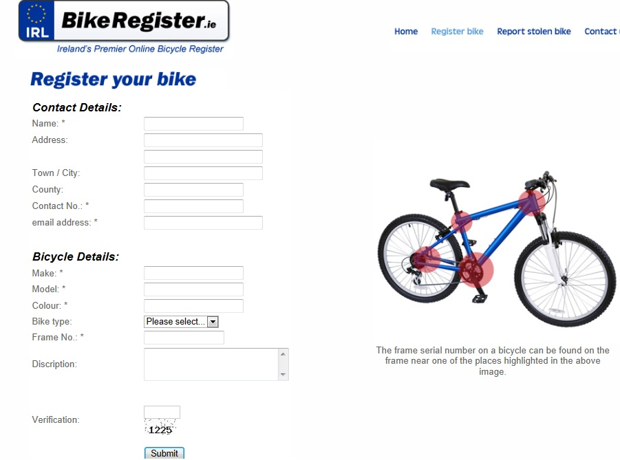 Ireland S Premier Online Bicycle Register How To Register