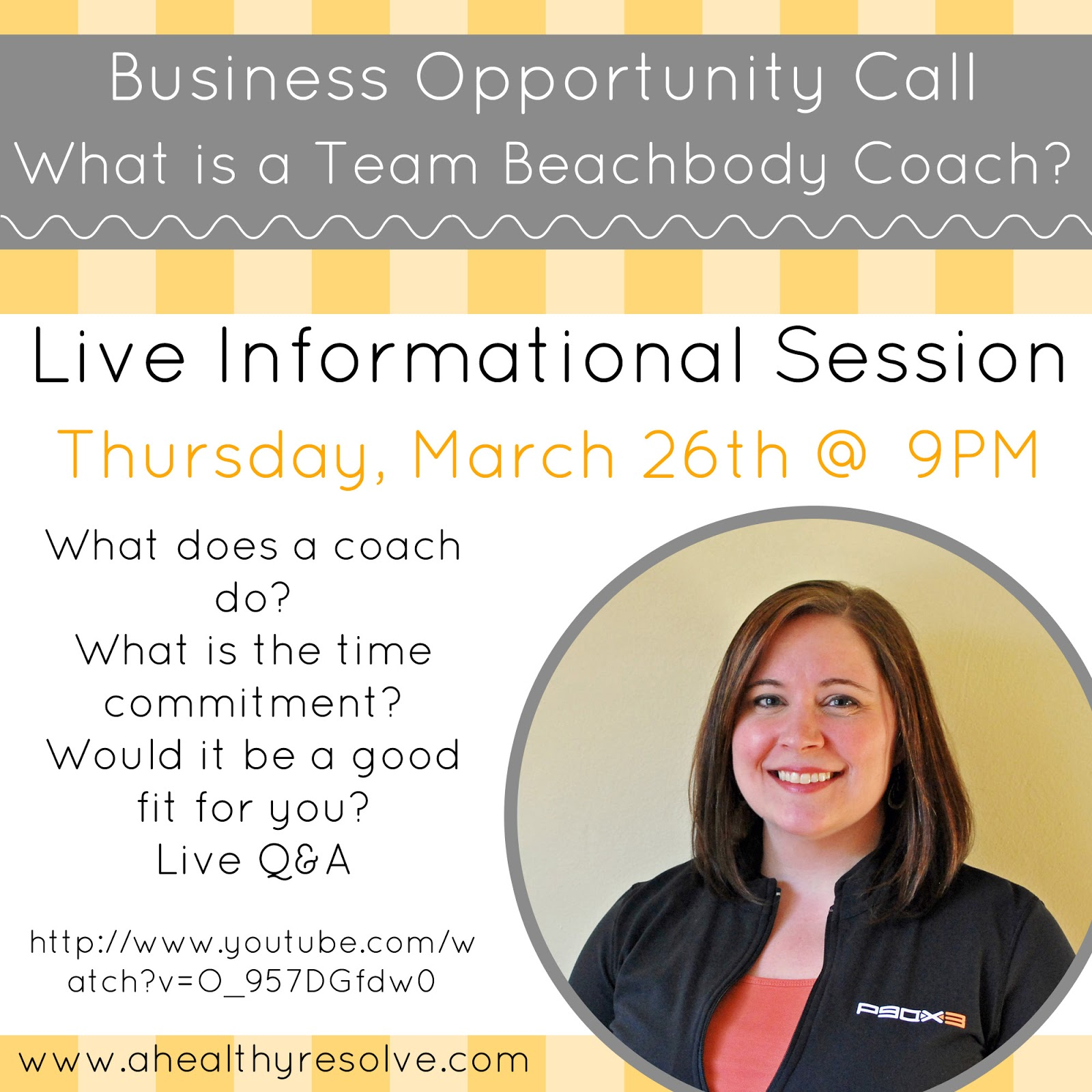 What is a Team Beachbody Coach Live Informational Session - www.ahealthyresolve.com