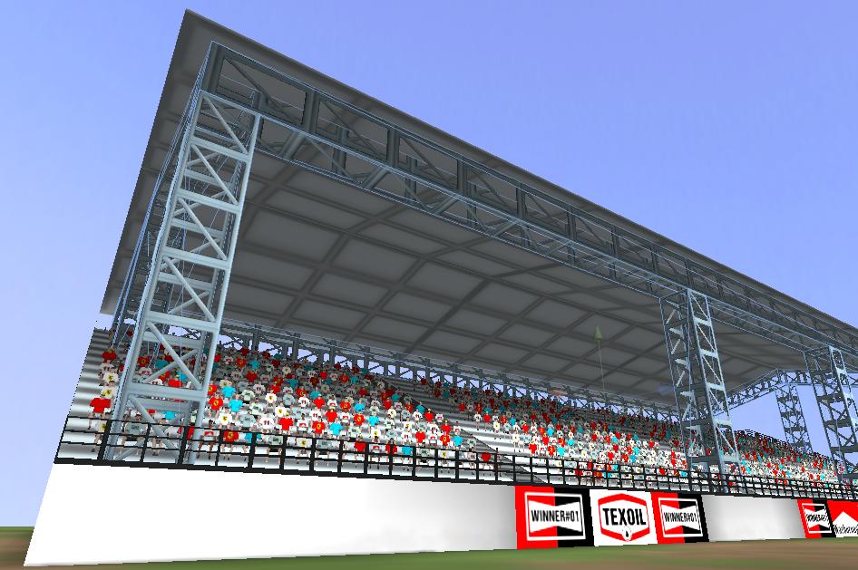 Unity render of the tribune model