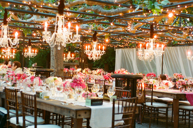(image Sources: 1 | 2 ) If Your Venue Is More Like An Open Field Consider  Bringing A Tent Or Gazebo Frame To Hang The Chandeliers.