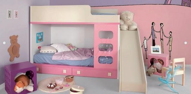Decora hogar dormitorios con camarotes o literas modernas for Cuartos para ninas literas