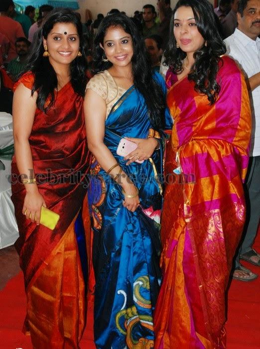 Malayalam Actresses In Silk Sarees Saree Blouse Patterns