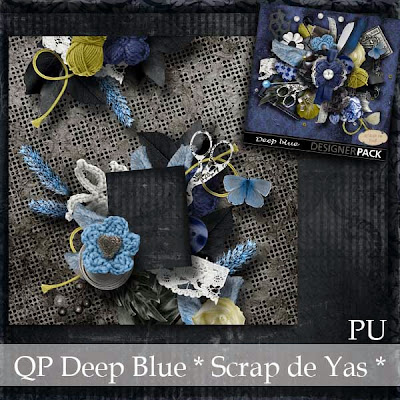 "Kit ""Deep blue"" by Scrap de Yas"